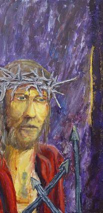 Krone, Kreuz, Passion, Acrylmalerei