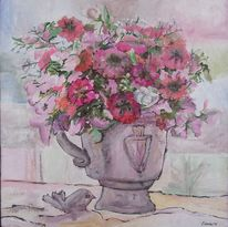 Lila, Blumenstrauß, Sommer, Stillleben