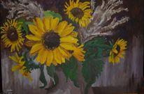 Gemälde, Sonnenblumen, Sommer, Stillleben