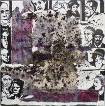 Collage, Portrait, Edding, Menschen