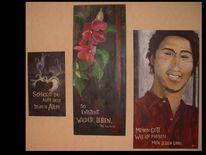Portrait, Triptychon, Leben, Menschen