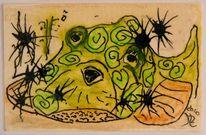 Aquarellmalerei, Fisch, Laminieren, Tiere