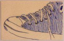 Kugelschreiber, Schuhe, Taschenkunst, Karton
