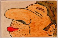 Karton, Aquarellmalerei, Laminieren, Tusche