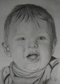 Junge, Portrait, Zeichnung, Bleistiftzeichnung