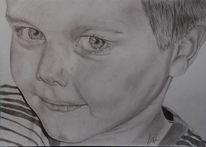 Kind, Zeichnung, Menschen, Bleistiftzeichnung