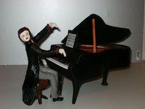 Pianist, Skulptur, Plastik