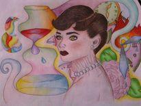 Zeit, Farben, Portrait, Malerei