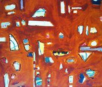 Gemalte musik, Farbe und form, Collage, Gemalte komposition