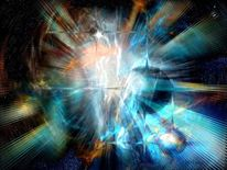 Universum, Gemälde, Flugdesphoenix, Digital