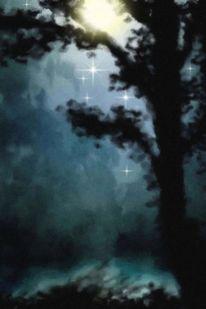 Himmel, Gemälde, Stern, Universum
