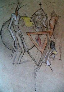 Menschen, Person, Baum, Malerei