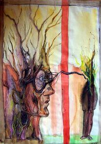 Person, Menschen, Malerei