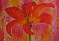 Gelb, Blumen, Grün, Rot