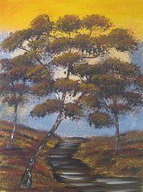 Natur, Acrylmalerei, Baum, Geschenk