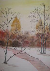 Baum, Wald, Weiß, Fluss