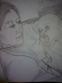 Portrait, Bleistiftzeichnung, Baby, Zeichnungen