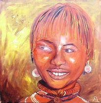 Frau, Natur, Braun, Afrika