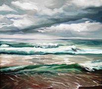 Sylt, Strand, Himmel, Welle