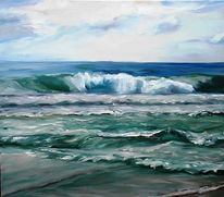 Himmel, Welle, Sylt, Malerei