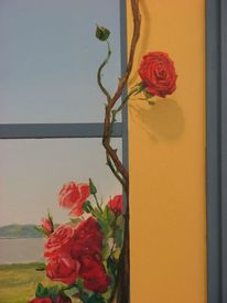 Landschaft, Realistische malerei, Wandmalerei, Landschaftsmalerei