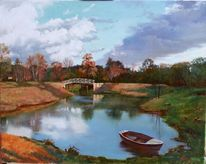 Landschaft, Realismus, Ölmalerei, Realistische malerei