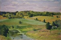 Realismus, Landschaftsmalerei, Ölmalerei, Landschaft