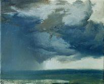 Landschaft, Realistische malerei, Ölmalerei, Landschaftsmalerei