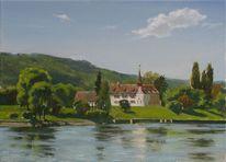 Landschaft, Realismus, Landschaftsmalerei, Ölmalerei