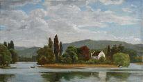 Realismus, Landschaft, Ölmalerei, Landschaftsmalerei