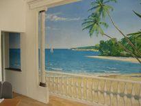 Landschaftsmalerei, Wandmalerei, Illusionsmalerei, Realistische malerei