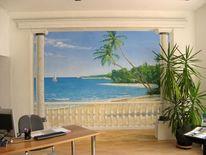Landschaftsmalerei, Realismus, Realistische malerei, Illusionsmalerei