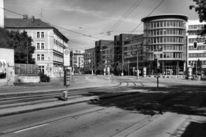 Münchner, Schwarzweiß, Leeren, Architektur