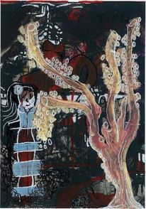 Fusion, Dame, Malerei, Wald