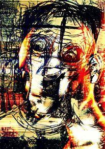 Zeit, Portrait, Licht, Frau