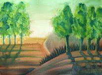 Grün, Wald, Landschaft, Feld