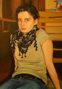 Figural, Portrait, Figur, Ölmalerei