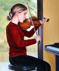 Figur, Portrait, Realismus, Ölmalerei