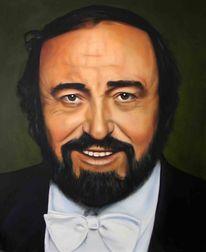 Pavarotti, Portrait, Ölmalerei, King