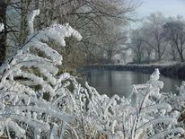 Fotografie, Winterlandschaft, Eiszeit