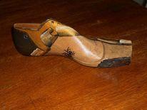 Acrylmalrei, Schuhe, Dekoration, Schuhleisten