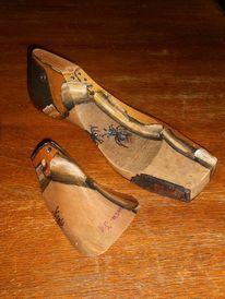 Acrylmalrei, Schuhe, Schuhleisten, Dekoration
