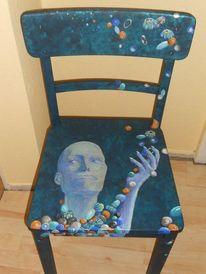 Bemalte stühle, Dekoration, Acrylmalrei, Alte möbel