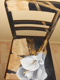 Acrylmalerei, Bemalte stühle möbelmalerei, Venedig, Lustige malerei