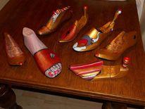 Schuhspanner, Dekoration, Alte möbel, Stuhlmalerei