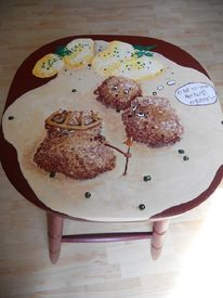 Möbel bemalt, Bemalte stühle, Königsberger, Freche malerei