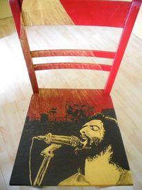 Freche malerei, Acrylmalerei, Bemalte stühle möbelmalerei, Stuhmalerei