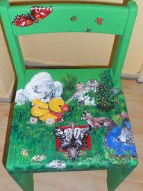Bemalte stühle möbelmalerei, Lustige malerei, Stuhmalerei, Acrylmalerei