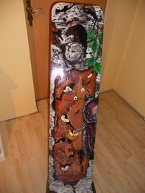 Freche malerei, Bemalte stühle möbelmalerei, Acrylmalerei, Design