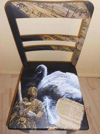 Möbelmalerei acryl, Acrylmalerei, Bemalte stühle möbelmalerei, Lohengrin